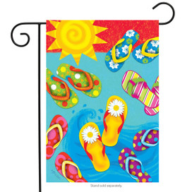 Fun in the Sun Flip Flops Summer Garden Flag