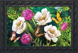 Butterflies And Poppies Spring Doormat