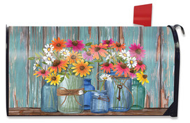 Farm Fresh Flowers Spring Large / Oversized Mailbox Cover