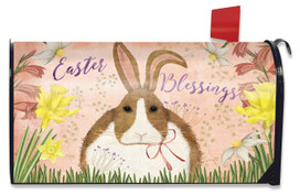 Easter Blessings Bunny Mailbox Cover