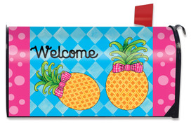 Pineapple Welcome Spring Mailbox Cover