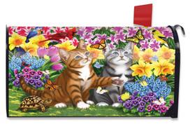 Garden Kittens Spring Mailbox Cover