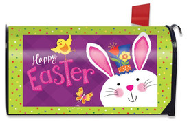 Easter Greetings Bunny Large / Oversized Magnetic Mailbox Cover
