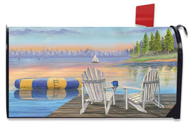 Waterfront Retreat Nautical Magnetic Mailbox Cover