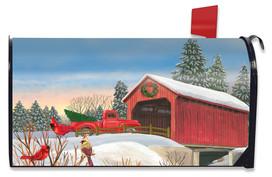 Winter Bridge Mailbox Cover