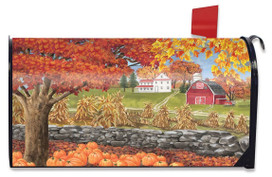 Autumn Day Scene Large / Oversized Magnetic Mailbox Cover