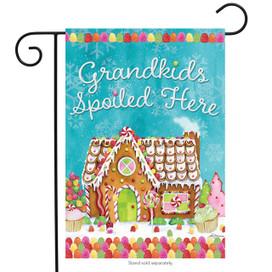 Grandkids Spoiled Here Garden Flag