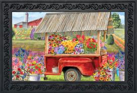 Spring Farm Floral Doormat