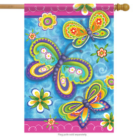 Garden Butterflies House Flag