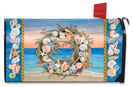 Driftwood Wreath Summer Mailbox Cover