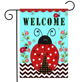 Welcome Ladybugs Spring Garden Flag