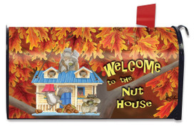 Welcome to the Nuthouse Fall Large / Oversized Mailbox Cover