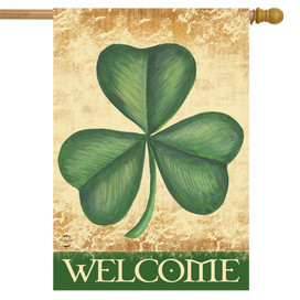 Shamrock Welcome House Flag