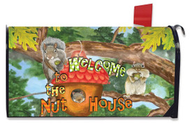 Welcome to the Nut House Summer Large / Oversized Mailbox Cover