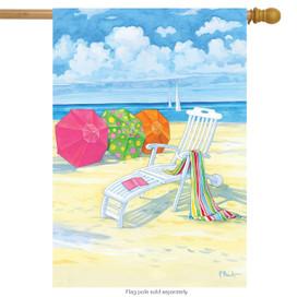Beach Day Summer House Flag