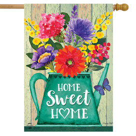 Home Sweet Home Spring House Flag
