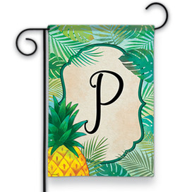 Palms Monogram P Garden Flag