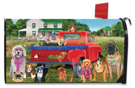 Country Pups Summer Mailbox Cover