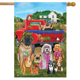 Country Pups Summer House Flag