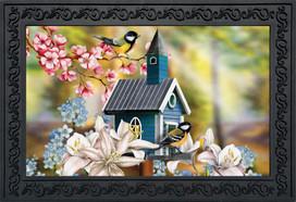Peaceful Birdhouse Doormat