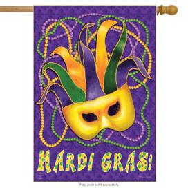 Mardi Gras Holiday House Flag