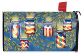 Patriotic Luminaries Summer Mailbox Cover