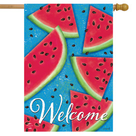 Watermelon Welcome Summer House Flag