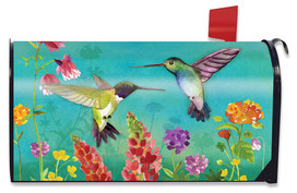 Hummingbird Greeting Spring Large / Oversized Mailbox Cover