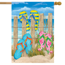 Toes In The Sand Nautical House Flag