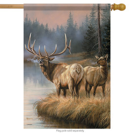 Elks Crossing Wildlife House Flag
