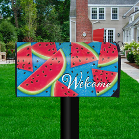 Watermelon Welcome Summer Mailbox Cover
