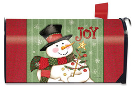 Snowman Joy Christmas Magnetic Mailbox Cover