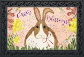 Easter Blessings Bunny Doormat