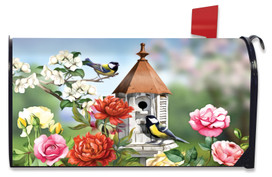 Home Sweet Birdhouse Spring Mailbox Cover