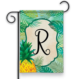 Palms Monogram R Garden Flag