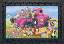Easter Dogs Holiday Doormat
