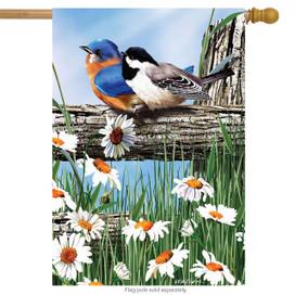 Spring Break Birds House Flag
