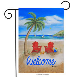 Beach Summer Garden Flag