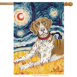 Van Growl German Shorthaired Pointer House Flag