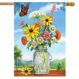Sunshine Bouquet Spring House Flag