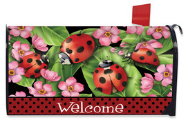 Ladybugs on Leaves Spring Mailbox Cover