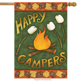 Happy Campfire Fall House Flag
