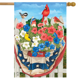American Birds Spring House Flag