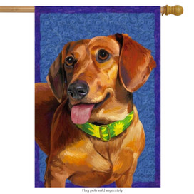 Dachshund Dog Puppy House Flag