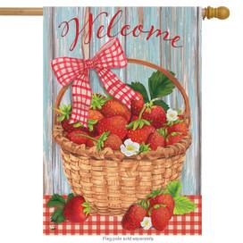 Strawberries Summer House Flag