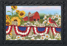 America The Beautiful Summer Doormat