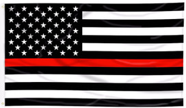 Thin Red Line Grommet Flag