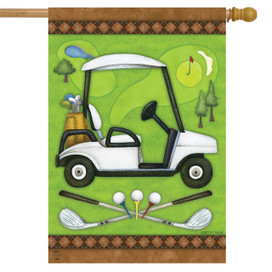Golf Spring House Flag