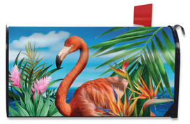 Flamingo Paradise Summer Mailbox Cover