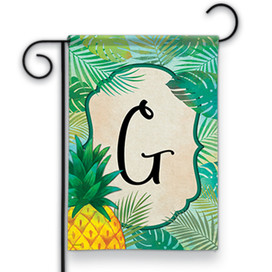 Palms Monogram G Garden Flag
